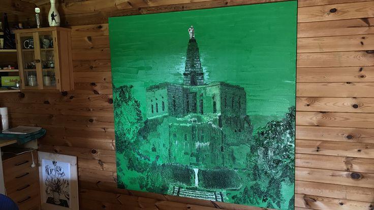 Green Herkules, 1,60x1,60m, Öl auf Leinwand, März 2017
