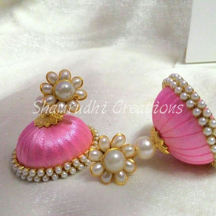 Satin ribbon earrings