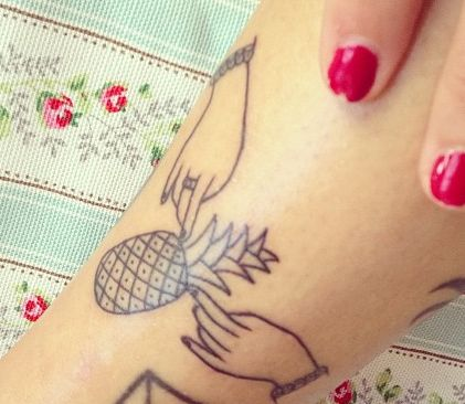 i want a cutie pineapple tattoo like this