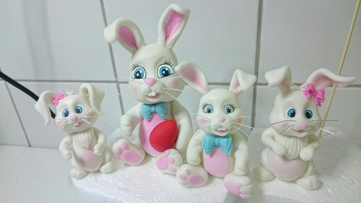 Bunny family figurines