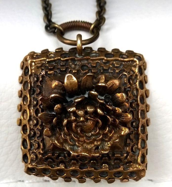Pentti Sarpaneva Finland  - Beautiful Vintage Bronze Slavic Necklace - Signed