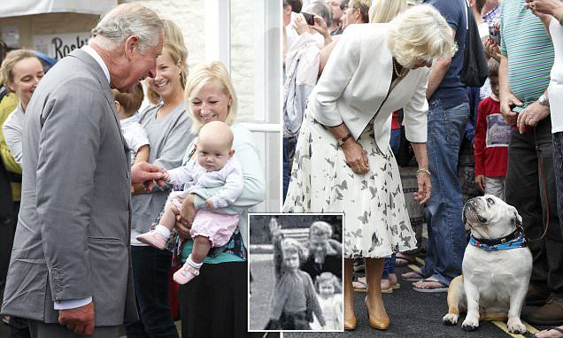 Charles and Camilla smile despite Nazi salute images of the Queen