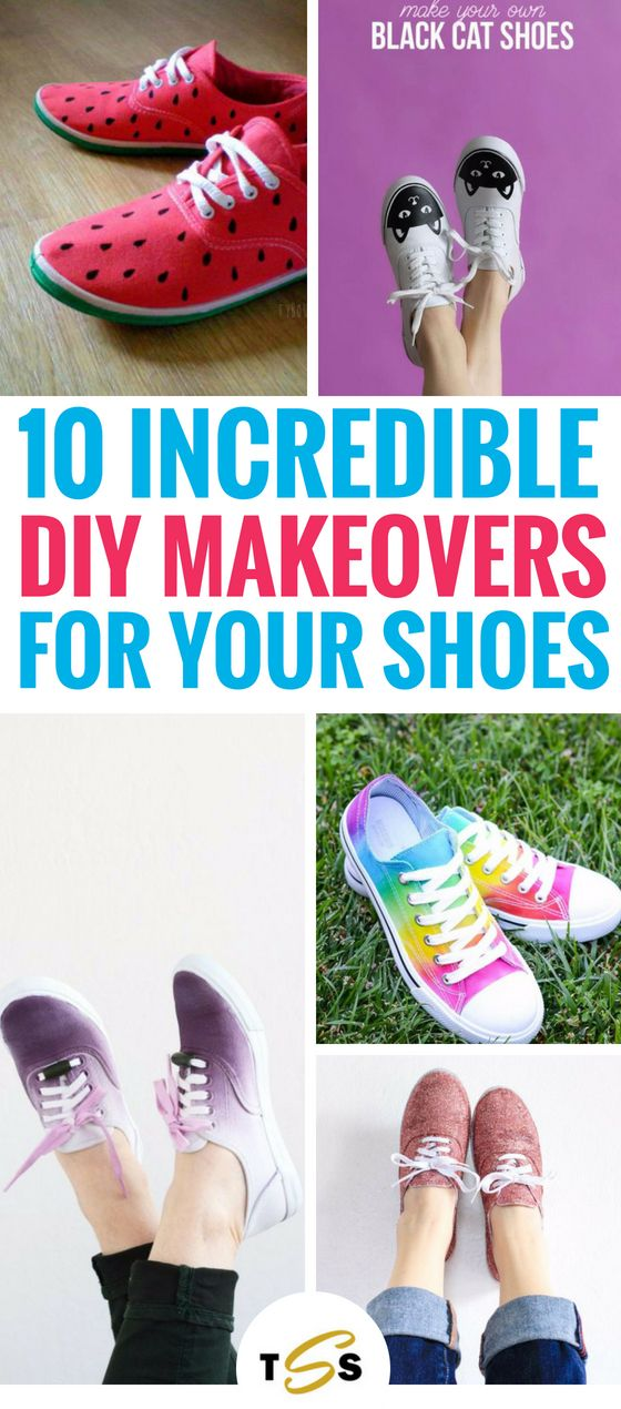 10 BESTE DIY-Schuhe und Makeover-Projekte, die Sie wirklich nicht missen möchten. Sie drehen sich …   – Junk N Stuff