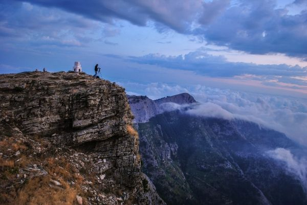 On top of Mount Ipsarion, above the clouds