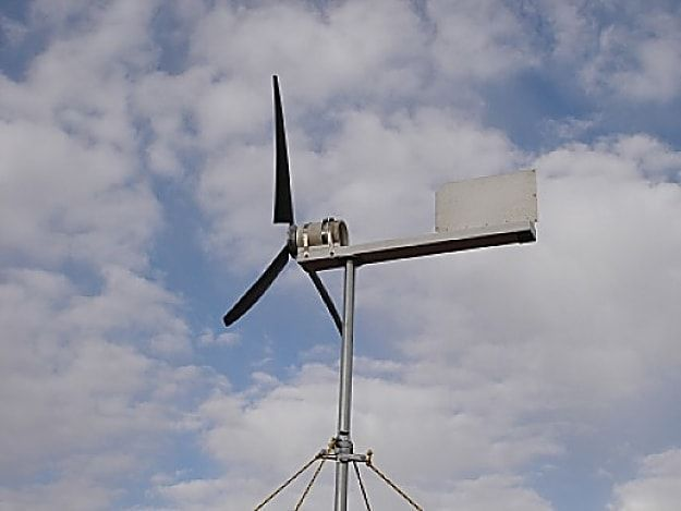 Homemade Electricity Producing Wind Turbine