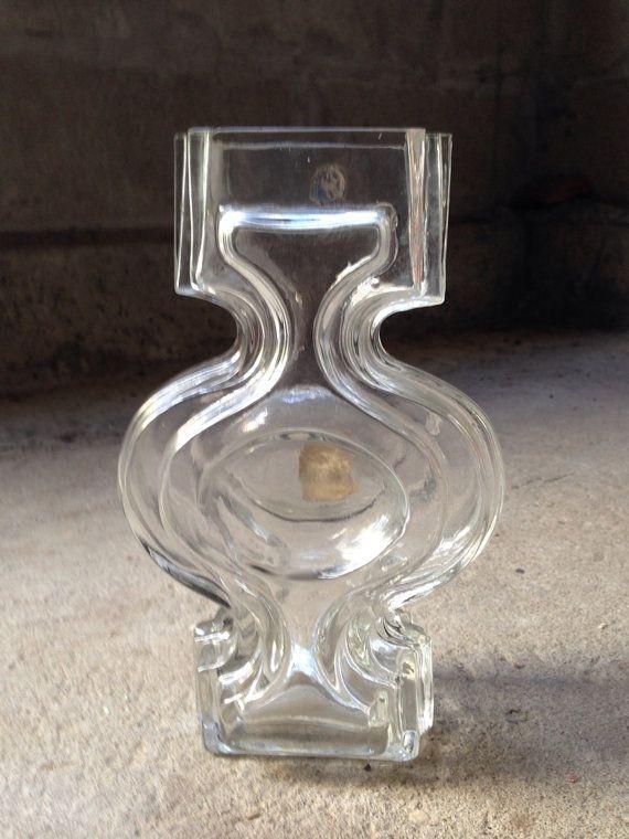 Glass Vase Riihimaen Lasi Helena Tynell Mid by seventysixtyfifty, $95.00