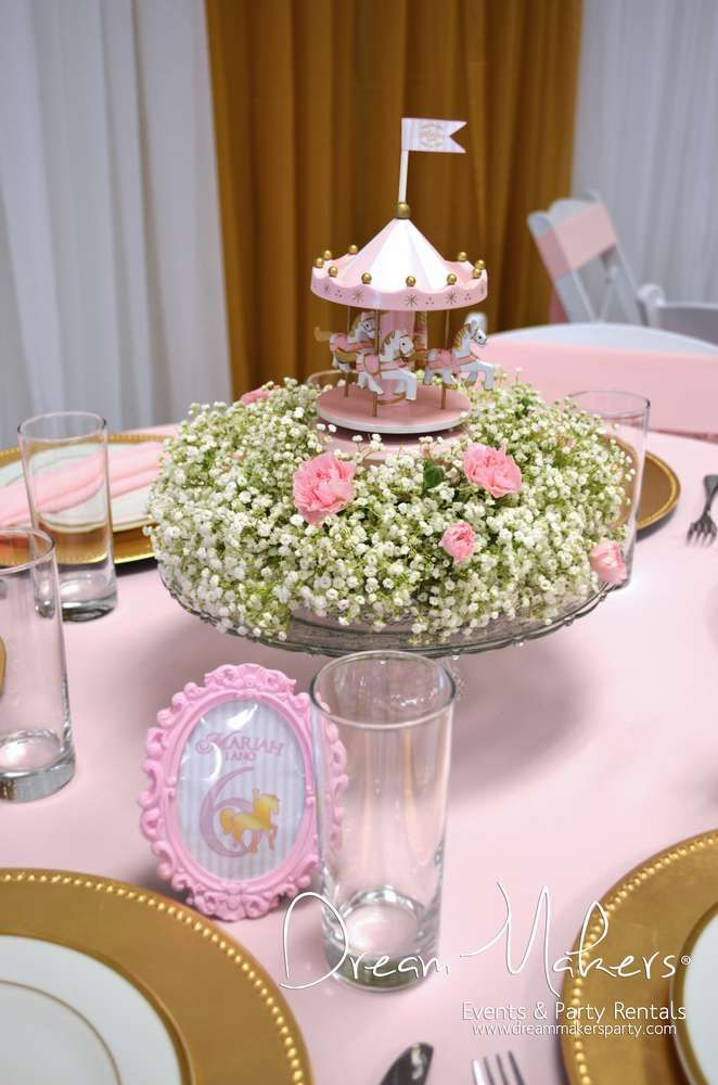 Carousel Birthday Party decorations!  See more party planning ideas at CatchMyParty.com!
