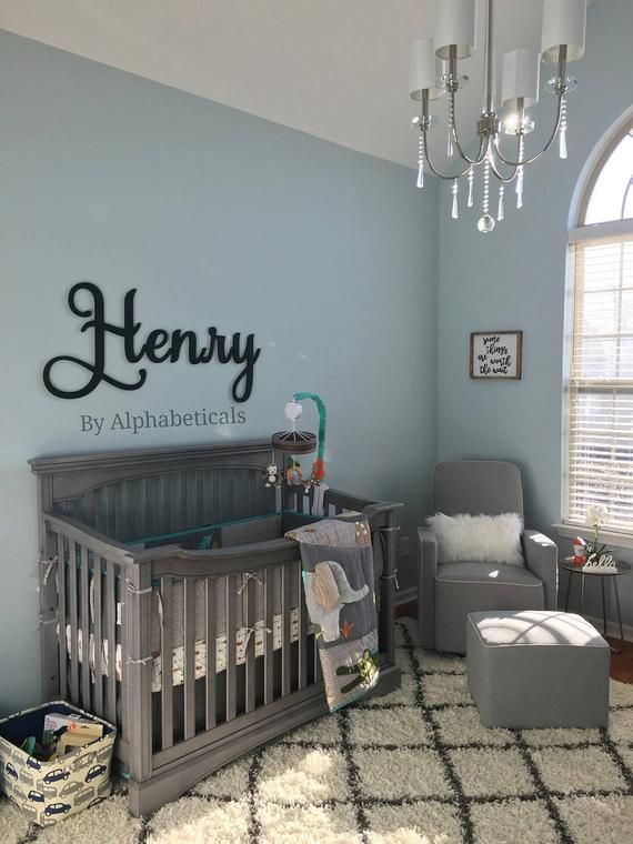 Nursery Name Sign Wall Letters Baby Girl Boy Kids Room Decor
