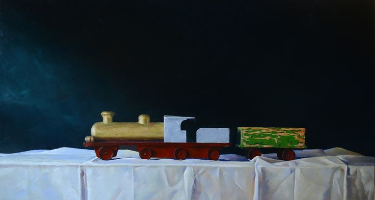 My Old Chou Chou train 60 X 110 cm.  Oil on linen available.