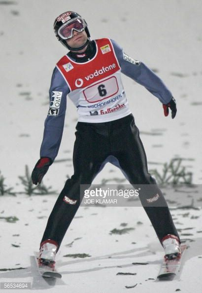 Andreas Widhoelzl of Austria lands during the final jump of FIS skijumping World cup the final round of the Four Hills Tournament in Bischofshofen 06...