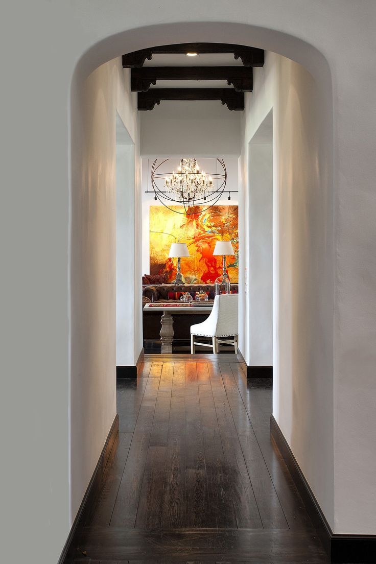 Hope Ranch Residence  Hallway  Modern  Transitional by Harrison Design