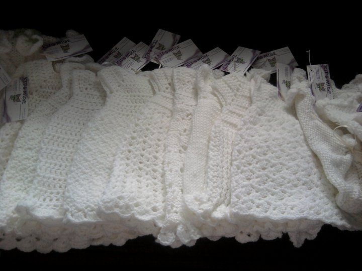 Hand Crocheted Burial Gowns For Donation By Kit S Muse A