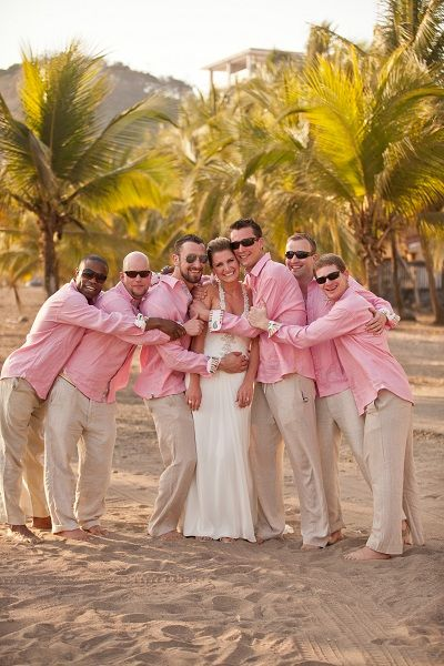 Pink Wedding Inspiration, Costa Rica Wedding
