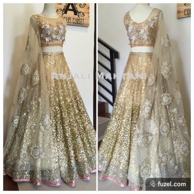 Golden Glitz ✨-bridal lehenga in sequined and crystallised accents #bridal #shaadi #wedding #weddinggown #weddingoutfit #indianbride #indianoutfit #indian_wedding_inspiration #allaboutfashion #allthingsbridal #shaadidiaries #weddingdiaries #haute #couture #asianbrides #beautiful_lehengas #anjalimahtanicouture #anjalimahtanioriginals #gold #lehenga #lehengas