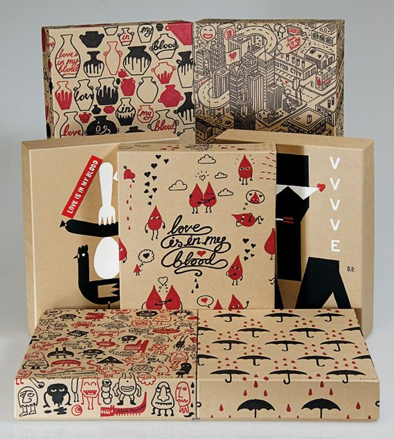 EJAF's Love Is In My Blood campaign box #packaging. Great graphics that I always thought should be more popular PD