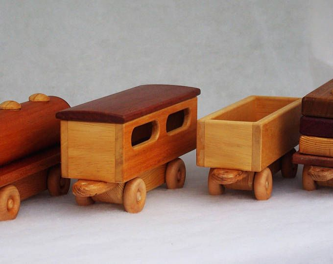 Personalised Wooden Toy Traditional Steam Train Carriages Model Car Vehicle Registration Plate