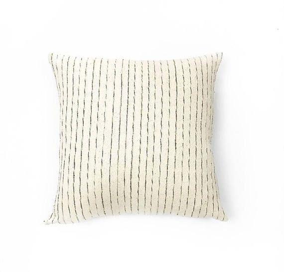 Woven Natural Cotton Stripe Tribal Textile Pillow Cover 20x20 Etsy Pillows Natural Cotton Pillow Covers 20 x 20 pillow insert