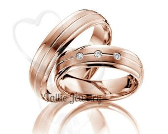 His & Hers Mens Womens Matching 14k White Gold by TallieJewelry