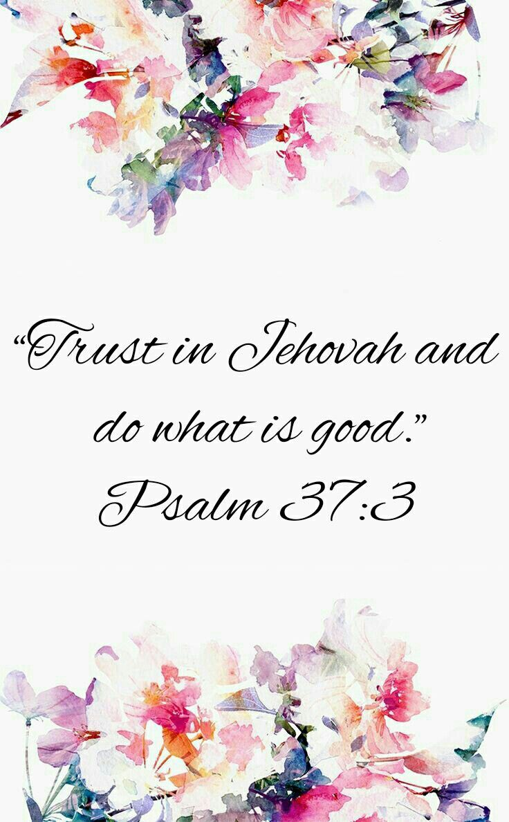 """2017 Year Text """"Trust in Jehovah and do what is good.""""—Psalm 37:3"""