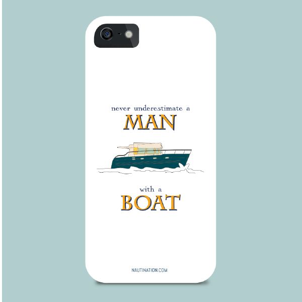 Smart Phone Cover - Man with a boat | Nautination gifts for sailors, boaters…