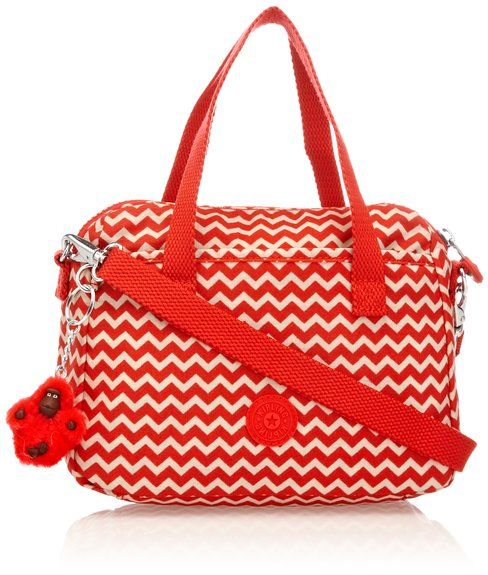 Kipling Emoli Chevron Red Pr, Sac porté main - Rouge (Chevron A utiliser en vanity