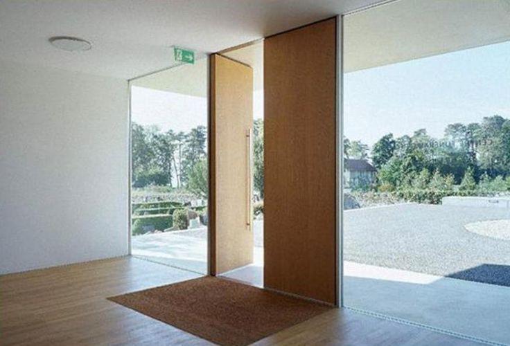 Ansicht - Eingangstüre - frameless - nur Glas - von Berger - modernes design