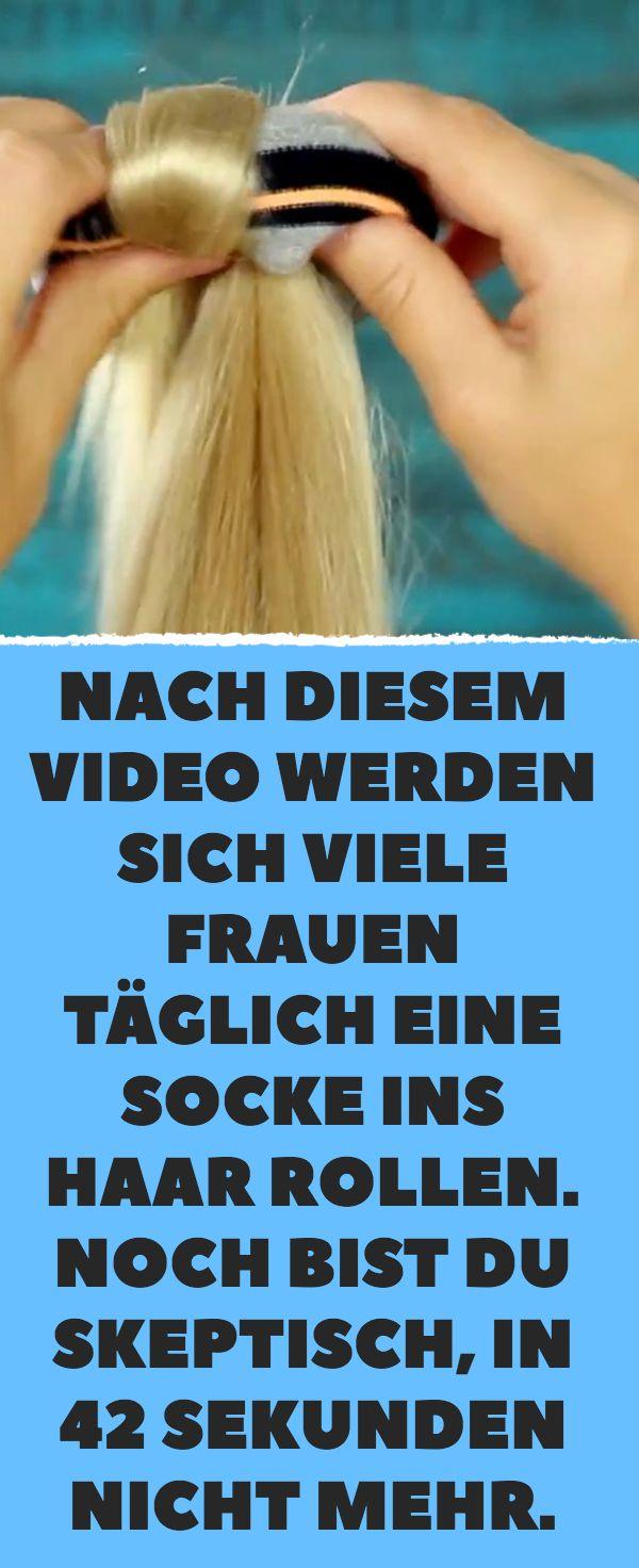 Nach diesem Video werden sich viele Frauen täglich eine Socke ins Haar rollen. …