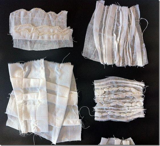 Lots of fabric manipulation ideas