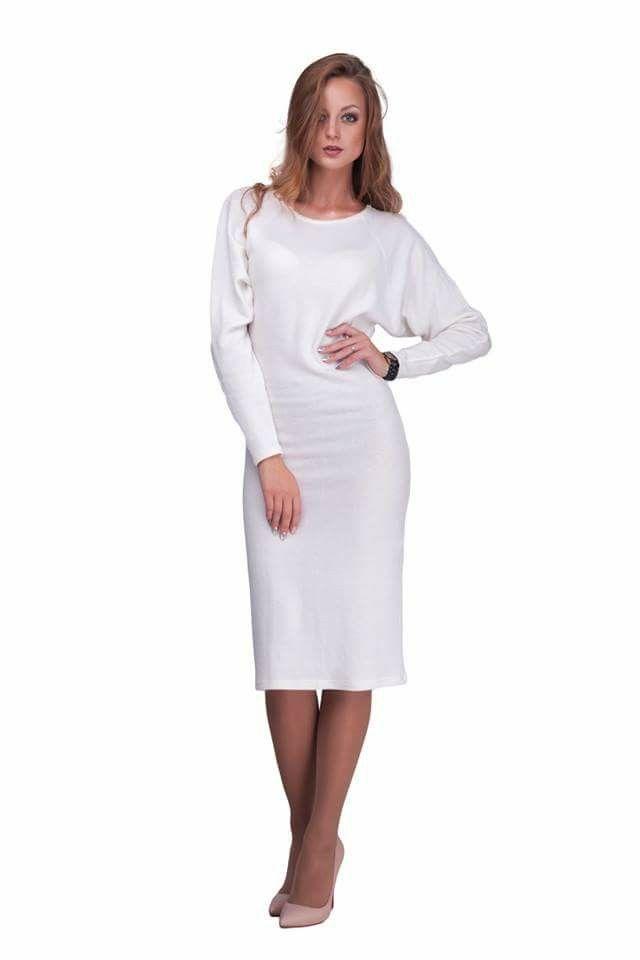 Белое платье летучая мышь Lilo