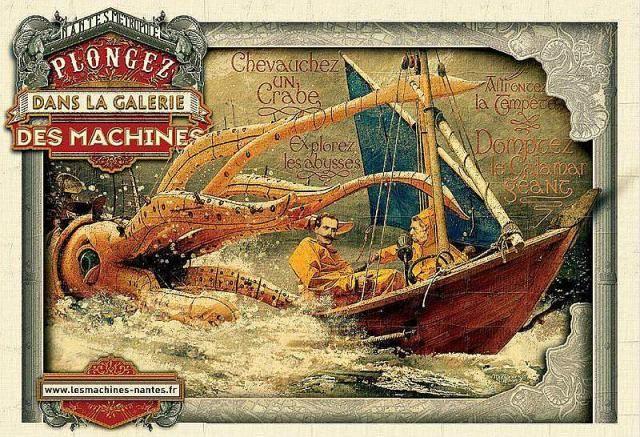 Affiche de Stéphan Muntaner pour les Machines de l'île