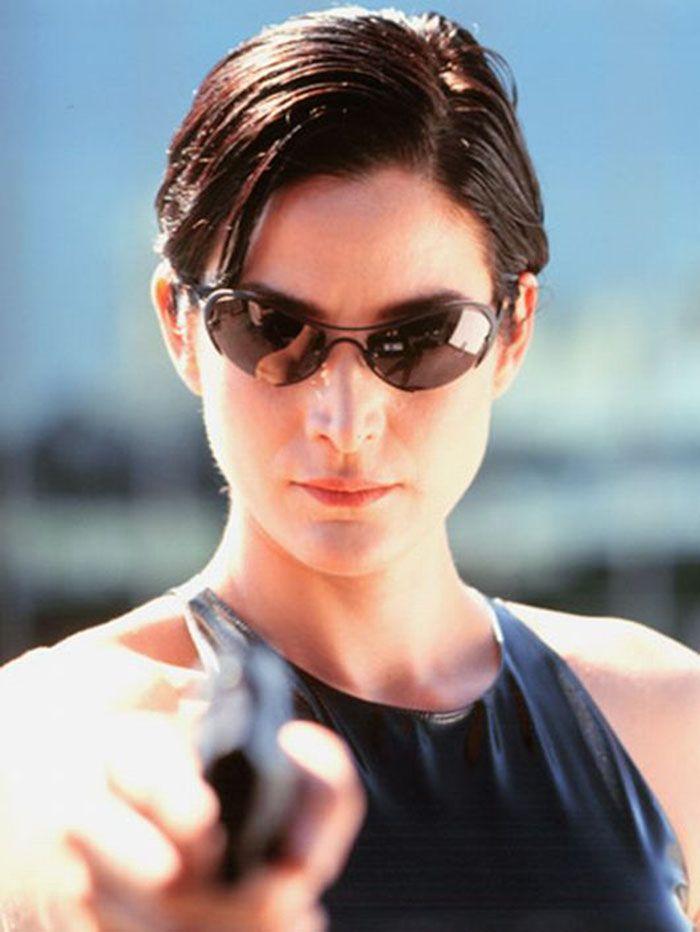 """Carrie-Anne Moss en""""Matrix (The Matrix), 1999"""
