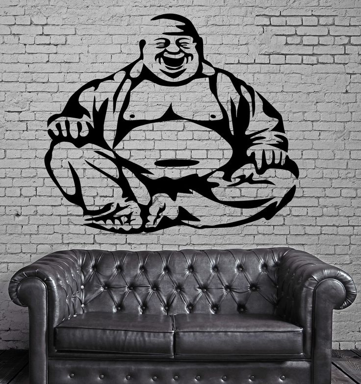 Happiness Laughing Buddha Amulet Buddhism Wall Stickers Vinyl Decal (ig2094)