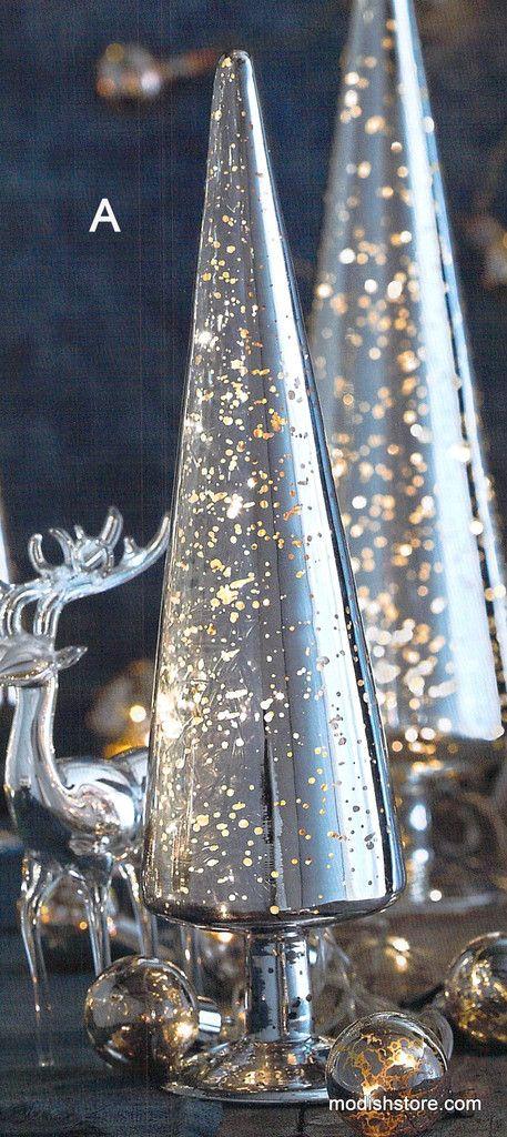 Roost Mercury Glass Light Up Trees U2013 Modish Store