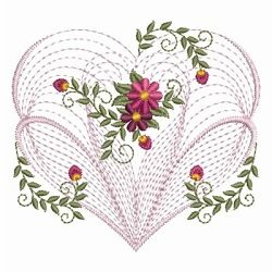 rippled floral hearts 2 12 designs 3 sizes valentines day machine