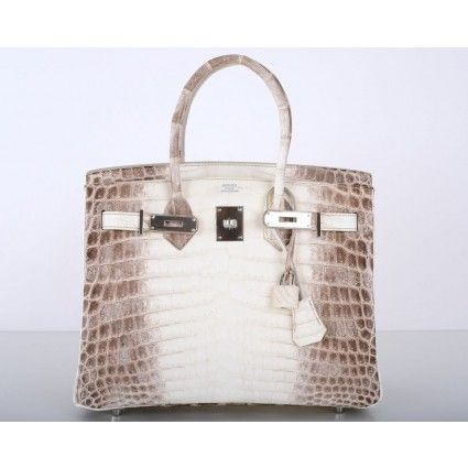 Hermes Himalayan White Crocodile 30cm Birkin Bag, $137,500 from Portero (pre-owned luxury)