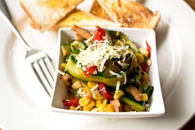 Zucchini and Corn Saute {Cookbook Giveaway}