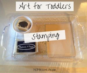 Montessori Activities - Art for Toddlers - Stamping