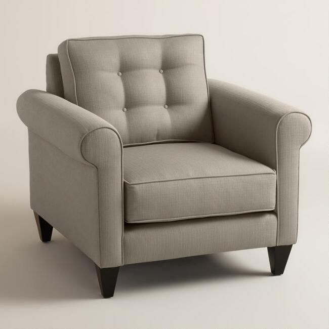 World Market Textured Woven Bryson Upholstered Chair