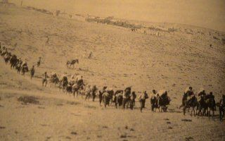 Convoy of Greek refugees in Asia Minor, 1922
