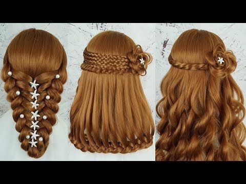 Top 5 Most Beautiful Hairstyles For Party Wedding Amazing Hairstyles Tutorials Compilation Youtube Cool Hairstyles Hair Tutorial Hair Styles