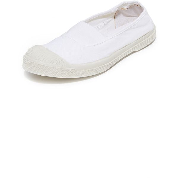 Bensimon Tennis Elastique Sneakers ($55) ❤ liked on Polyvore featuring shoes, sneakers, white, slip on sneakers, white tennis sneakers, white slip on sneakers, canvas sneakers and white tennis shoes