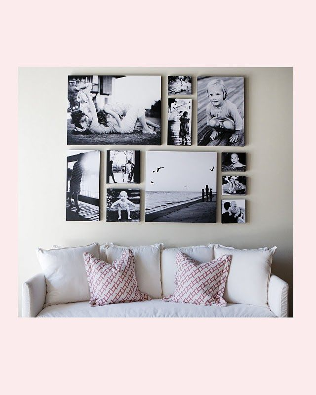 Swap out different wall art pieces as the years go by to keep it fresh!