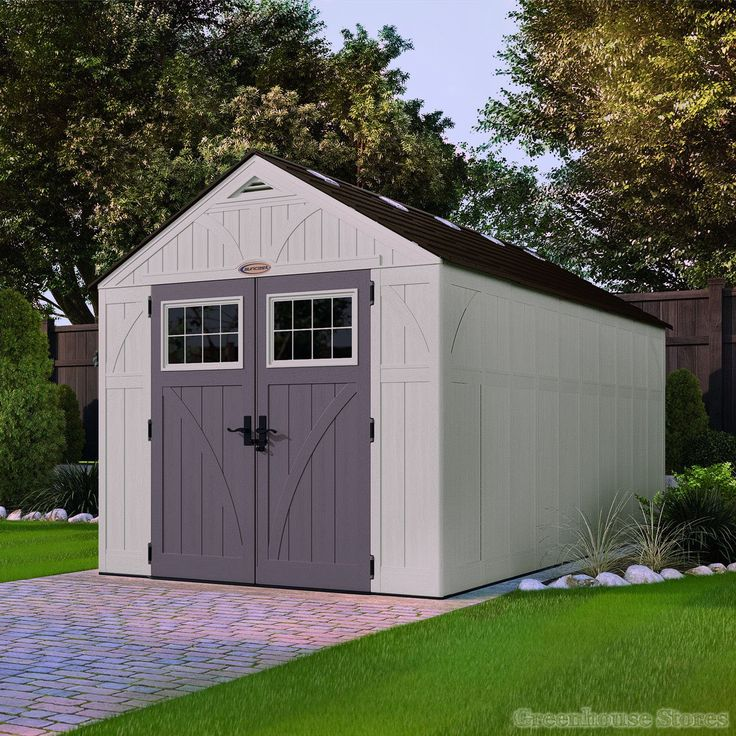 Suncast 8x16 Tremont One Plastic Shed  http://www.greenhousestores.co.uk/Suncast-8x16-Tremont-One-Plastic-Shed.htm
