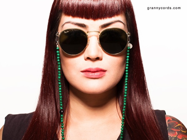 Carina wearing poison Ivy from our second collection - www.grannycords.com.