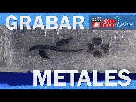 Grabar en Metal - Puntas de Carburo - YouTube