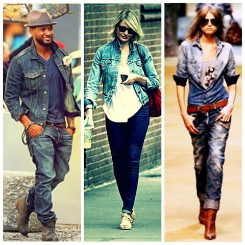 Denim, like wine gets better with time. The hot new look this season is the denim-on-denim look. Its bold, edgy and effortlessly stylish. The look works perfectly for both genders. And can be styled, accessorized and matched with anything Yell.