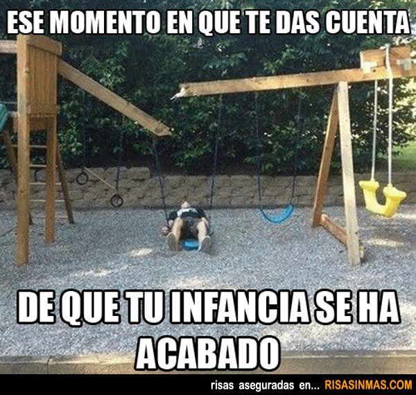 El fin de la infancia.