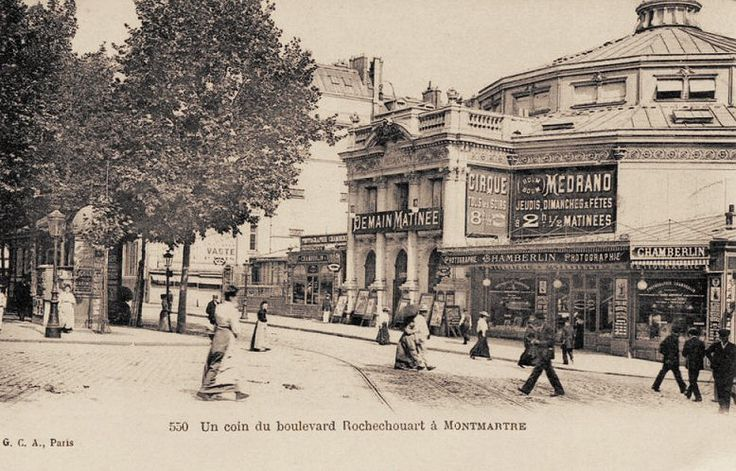 Le Cirque Médrano, boulevard de Rochechouart, vers 1900 - Paris 9ème/18ème