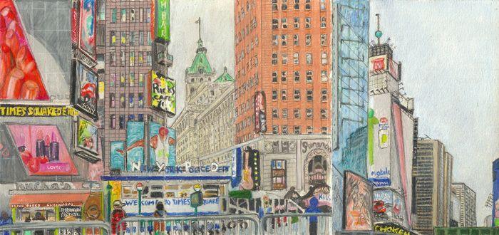 Elise Engler, W.43-42/42-41st Street (December)