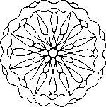 Mandala do kolorowania - Przebaczenie